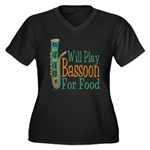 (CP) Will Play Bassoon dk Women's Plus Size V-