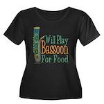 (CP) Will Play Bassoon dk Women's Plus Size Sc