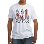 Will Play Bass Clarinet Fitted T-Shirt