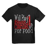 Will Play Bass Clarinet Kids Dark T-Shirt