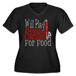 Will Play Bass Clarinet Women's Plus Size V-Neck D