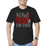 Will Play Bass Clarinet Men's Fitted T-Shirt (dark
