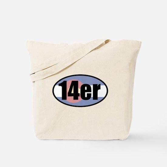 Colorado 14ers Tote Bag