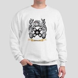 Conley Family Crest - Conley Coat of Ar Sweatshirt