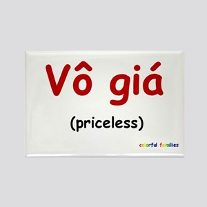 Priceless (Vietnamese) Rectangle Magnet