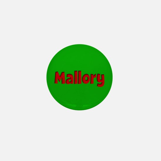 Mallory Green and Red Mini Button