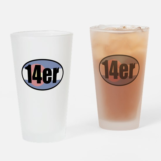 Colorado 14ers Drinking Glass