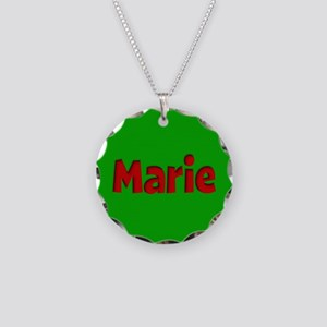Marie Green and Red Necklace Circle Charm