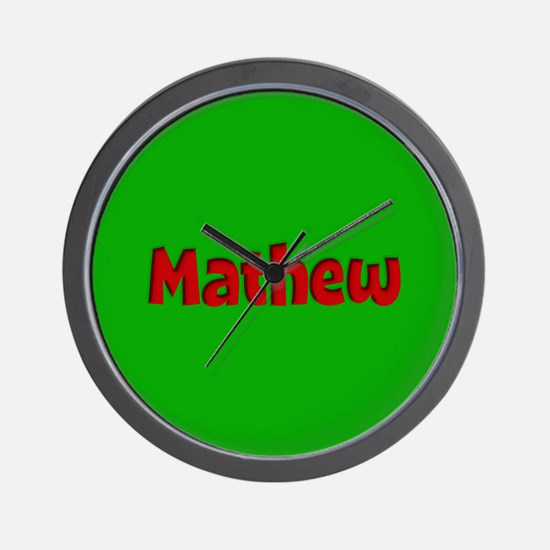 Mathew Green and Red Wall Clock