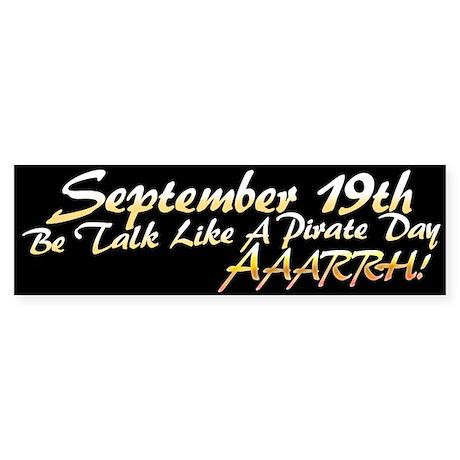 Talk Like a Pirate Day, Arrrh! Bumper Sticker