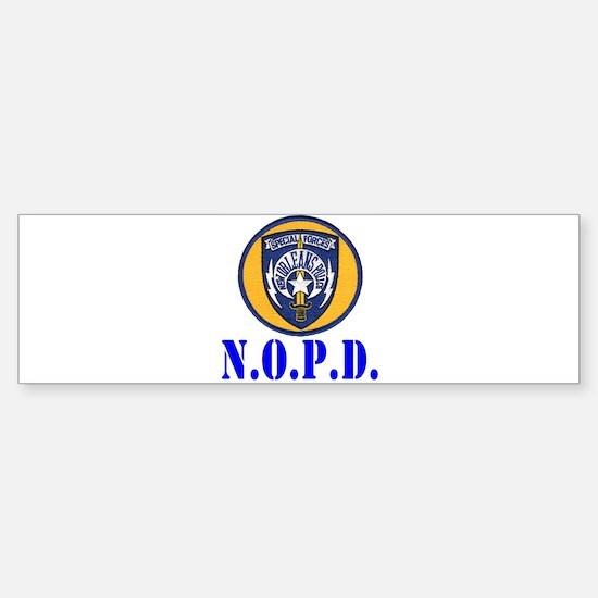 NOPD Specfor Bumper Bumper Bumper Sticker
