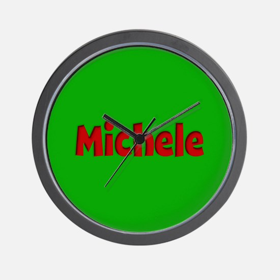 Michele Green and Red Wall Clock