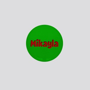 Mikayla Green and Red Mini Button