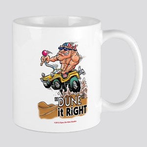 """Dune It Right"" Dune Buggy Cartoon Mug"