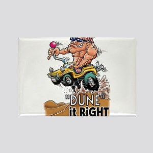 """""""Dune It Right"""" Dune Buggy Cartoon Rectangle Magne"""