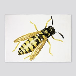 Hornet drawing 5'x7'Area Rug