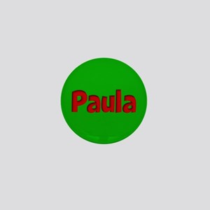 Paula Green and Red Mini Button