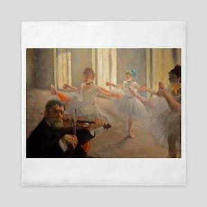 Famous Paintings: The Ballet School Queen Duvet