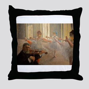 Famous Paintings: The Ballet School Throw Pillow