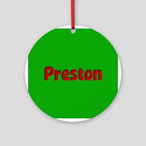 Preston Green and Red Ornament (Round)
