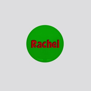 Rachel Green and Red Mini Button