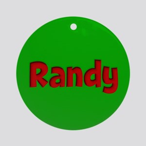 Randy Green and Red Ornament (Round)