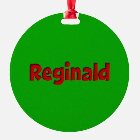 Reginald Green and Red Ornament