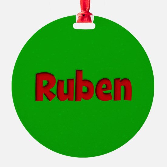 Ruben Green and Red Ornament
