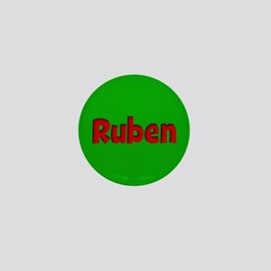 Ruben Green and Red Mini Button