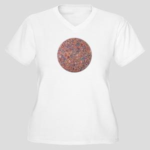 Circles! Women's Plus Size V-Neck T-Shirt