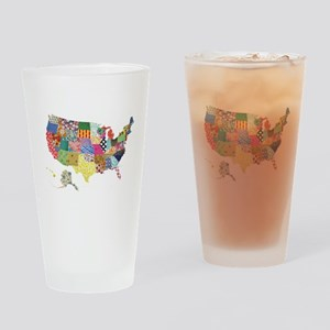 Everything Mapped America Drinking Glass