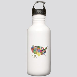 Everything Mapped America Stainless Water Bottle 1