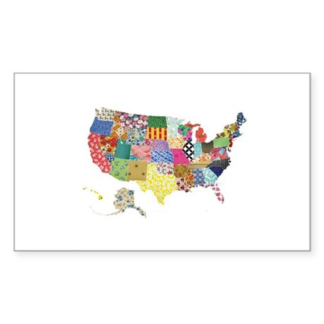 Everything Mapped America Sticker (Rectangle)