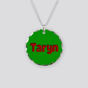 Taryn Green and Red Necklace Circle Charm