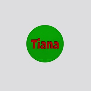 Tiana Green and Red Mini Button