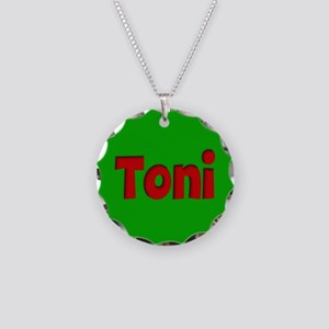 Toni Green and Red Necklace Circle Charm