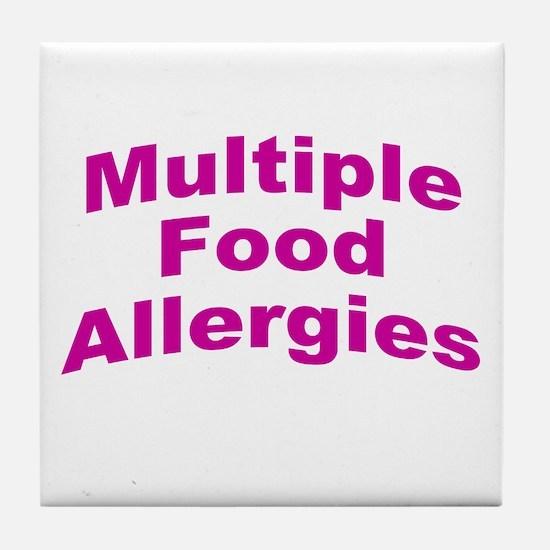 Multiple Food Allergies Tile Coaster