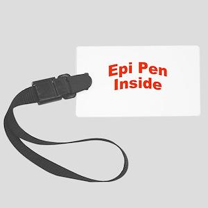 Epi Pen Inside Large Luggage Tag