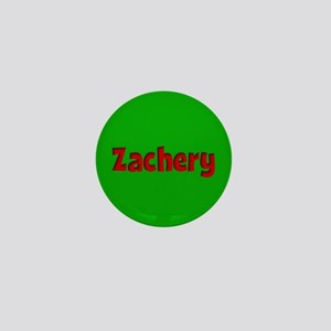Zachery Green and Red Mini Button