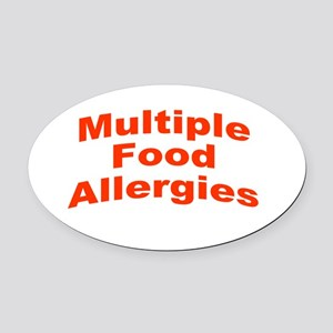 Multiple Food Allergies Oval Car Magnet