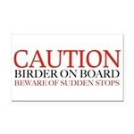 Caution birder on board bumper Rectangle Car Magne