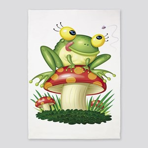 Frog Toad stool 5'x7'Area Rug