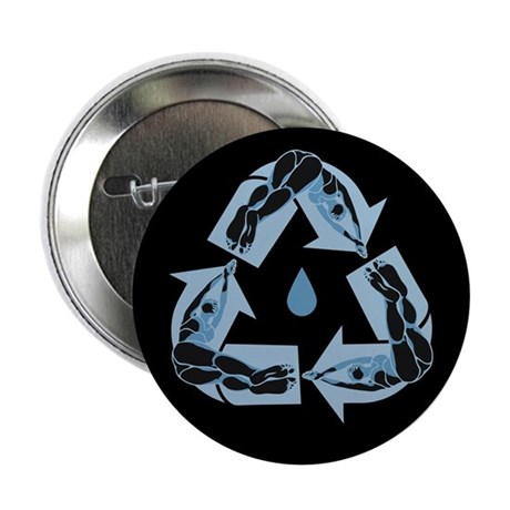 "Recycling Diver 2.25"" Button (10 pack)"