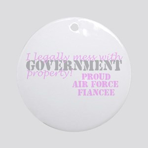 Air Force Fiancee Government Property Ornament (Ro