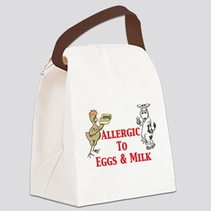 Allergic To Eggs Milk Canvas Lunch Bag