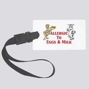 Allergic To Eggs Milk Large Luggage Tag