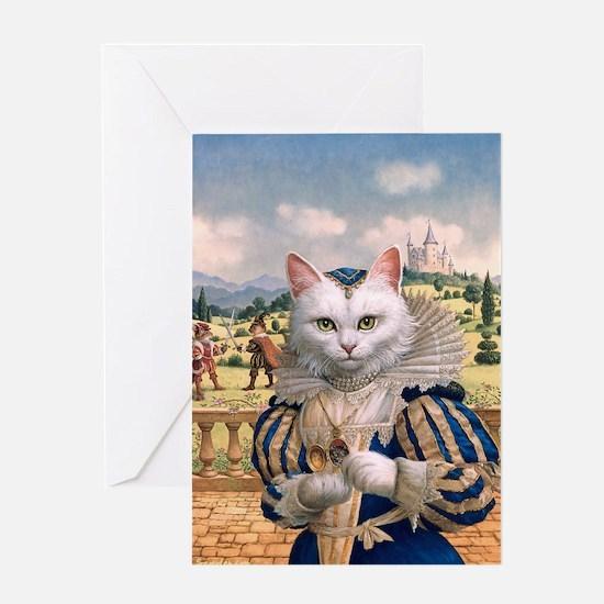 Cat Princess.Greeting Card