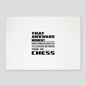 That Awkward Moment... Chess 5'x7'Area Rug