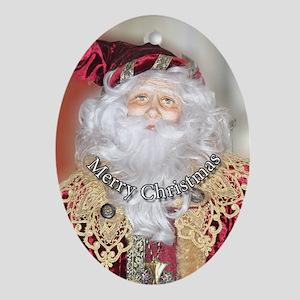 Santa Circle.png Ornament (Oval)