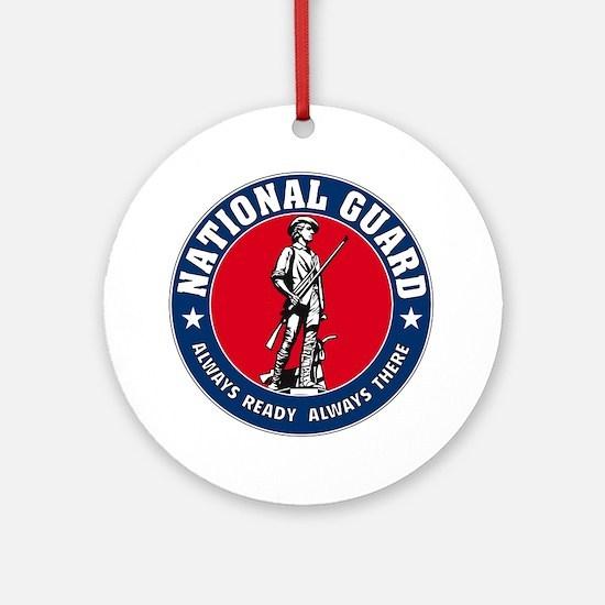 National Guard Logo Ornament (Round)